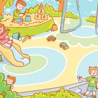 На детской площадке