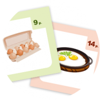 Пример карточек из набора «Детское кафе»