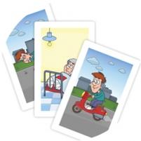 Игра «Пример карточек изнабора «Что сначала»»