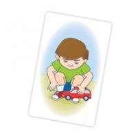 Пример карточки изнабора «Бежит-лежит»