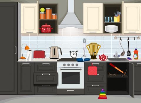 Работа с тематическими группами: предметы для кухни