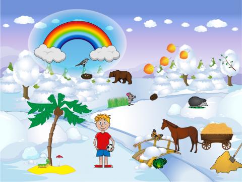 «Чего зимой не бывает?», бесплатное пособие для логики, мышления, внимания