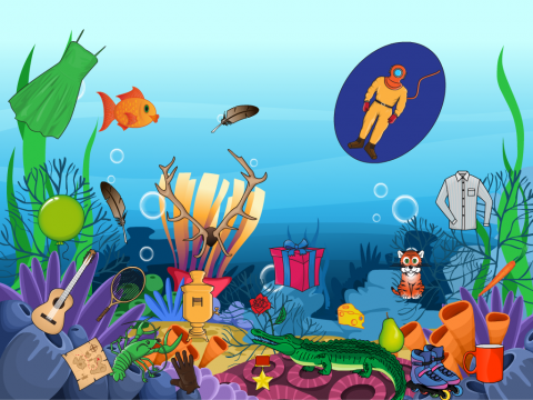 «Что на дне морском?», бесплатное пособие для автоматизации звуков