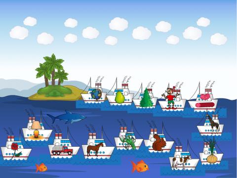 «Что привез корабль на остров?», бесплатное пособие для дифференциации звуков