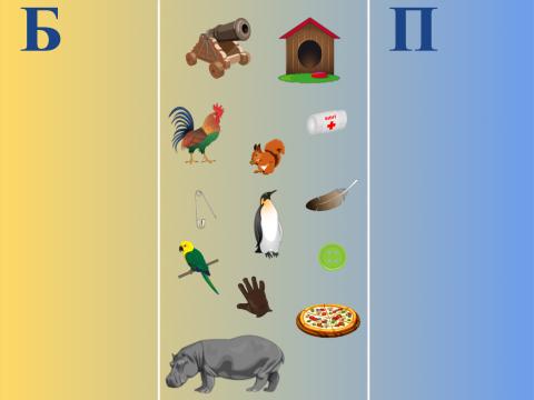 «Что в начале слова: Б или П?», бесплатное пособие для звукового анализа слова