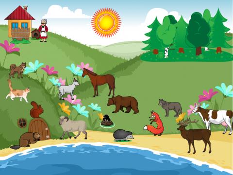 «Домашние и дикие животные», бесплатное пособие для лексических тем