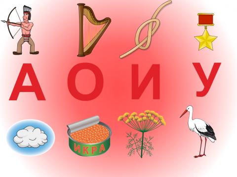 «Гласные буквы/звуки», бесплатное пособие для букв, азбуки