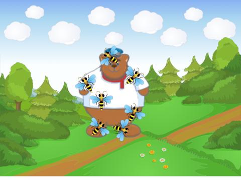 """«Игра-тренажер """"Отгони пчел от мишки""""», бесплатное пособие для автоматизации звуков"""