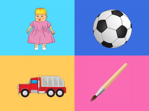 «Игры и игрушки -1», бесплатное пособие для логики, мышления, внимания