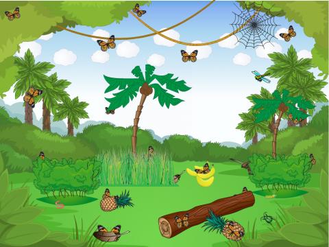 «Лес бабочек», бесплатное пособие для окружающего мира