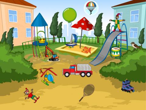 «На детской площадке», бесплатное пособие для автоматизации звуков