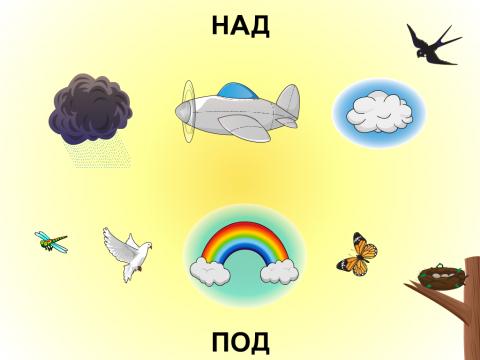 «НАД и ПОД», бесплатное пособие для грамматических категорий