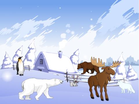 «Найди животных Севера.», бесплатное пособие для лексических тем