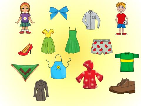 «Одежда для мальчиков и девочек», бесплатное пособие для лексических тем
