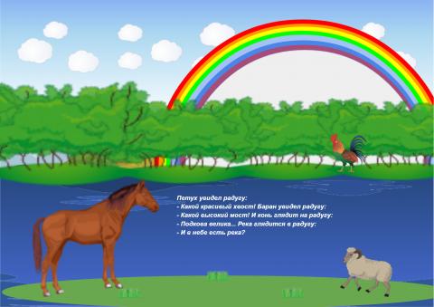 «Петух увидел радугу», бесплатное пособие для дифференциации звуков
