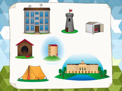«Разные виды жилищ», бесплатное пособие для окружающего мира
