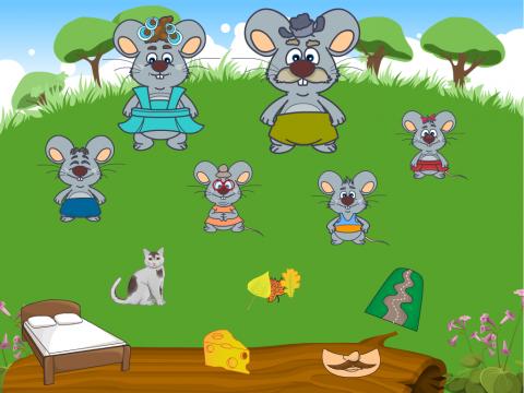 «Шесть мышат (диф с-ш)», бесплатное пособие для дифференциации звуков