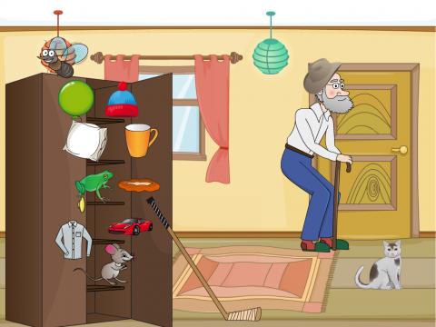 «У дедушки в шкафу», бесплатное пособие для автоматизации звуков