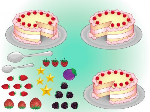 «Укрась торт», бесплатное пособие для грамматических категорий