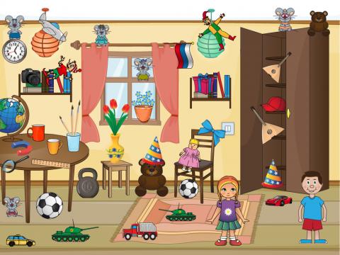 «В детской комнате», бесплатное пособие для грамматических категорий