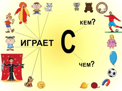 «Занимаюсь с аутёнком. Кто играет с кем/чем?», бесплатное пособие для грамматических категорий
