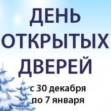 День открытых дверей все новогодние выходные!