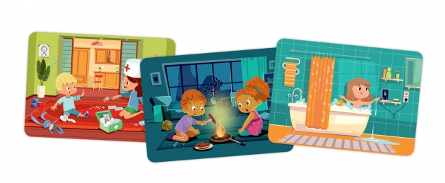 Пример карточек из набора «Осторожно, дети!»