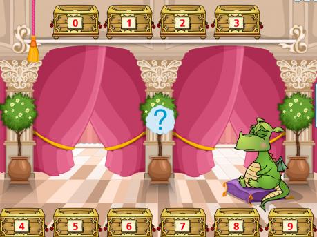 Развивающая игра «Цифры с дракончиком»
