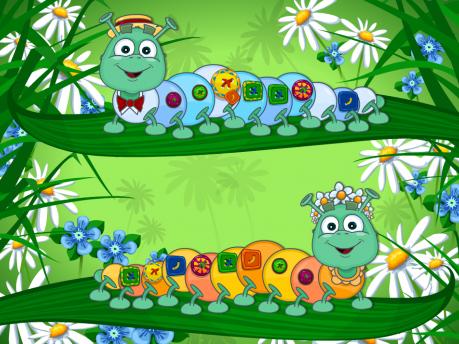 Развивающая игра «Дружные гусеницы»