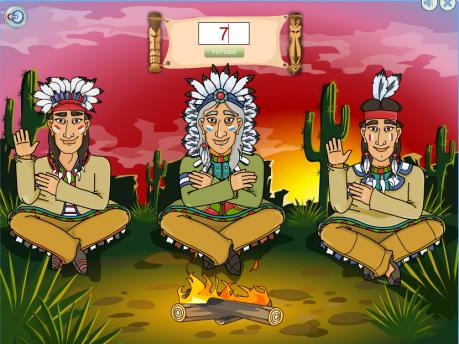 Развивающая игра «Как считают индейцы»