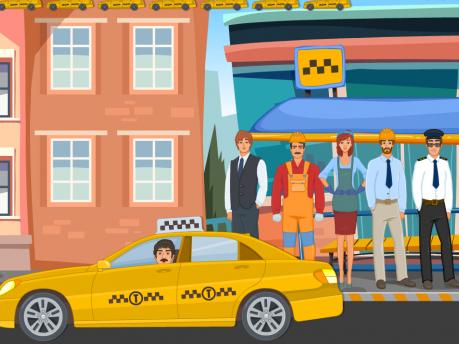 Развивающая игра «Такси вызывали?»