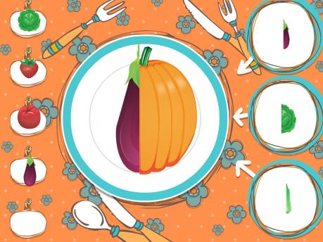 Развивающая игра «Овощи-фрукты»