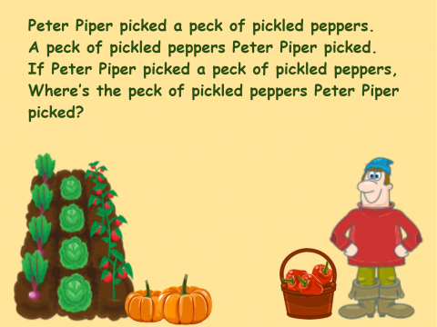 «Peter Piper», бесплатное пособие для английского языка