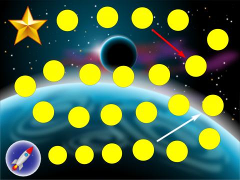 """«Бродилка """"В космосе""""», бесплатное пособие для логики, мышления, внимания"""