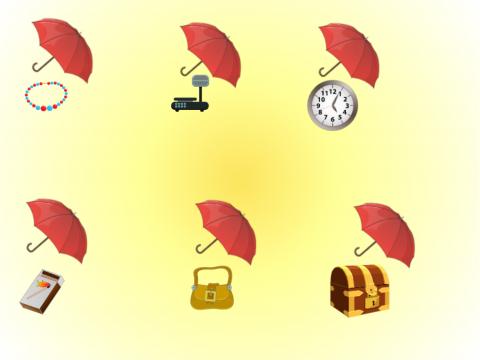 «Что под зонтом?», бесплатное пособие для дифференциации звуков