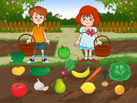«Фрукты и овощи», бесплатное пособие для лексических тем