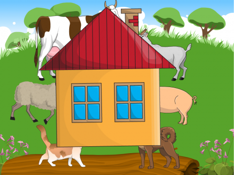 «Кто в домике живёт?», бесплатное пособие для лексических тем