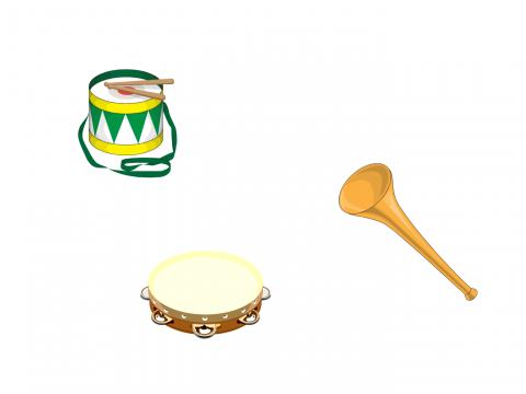 «Музыкальные инструменты. Бубен, барабан, дудка.», бесплатное пособие для дифференциации звуков