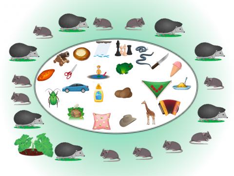 """«""""Мышки-ёжики"""" - дифференциация Ш-Ж», бесплатное пособие для дифференциации звуков"""