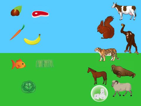 «Накорми животных», бесплатное пособие для лексических тем