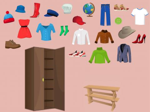 «Одежда, обувь, головные уборы», бесплатное пособие для лексических тем