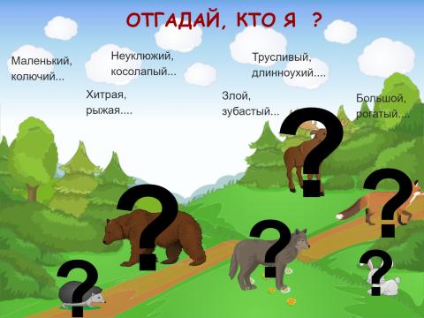 «Отгадай, кто я?», бесплатное пособие для грамматических категорий