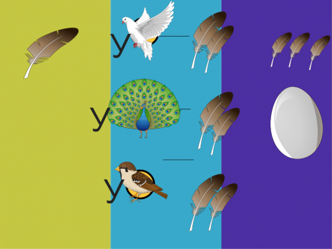 «Перо - перья - пёрышки. Слово ПЕРЬЯ в предложении.», бесплатное пособие для грамматических категорий
