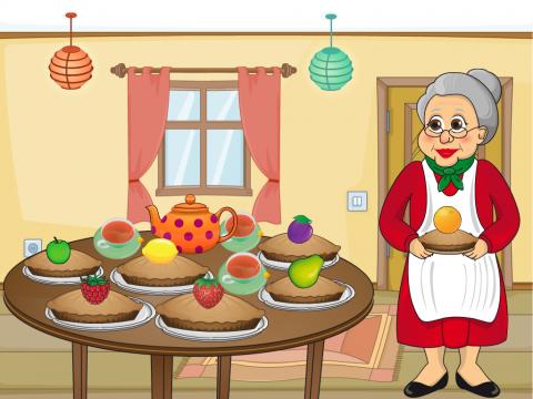 «Пироги для внуков», бесплатное пособие для грамматических категорий