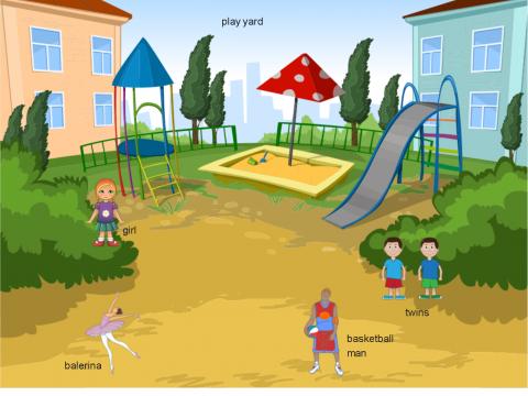 «play yard», бесплатное пособие для английского языка