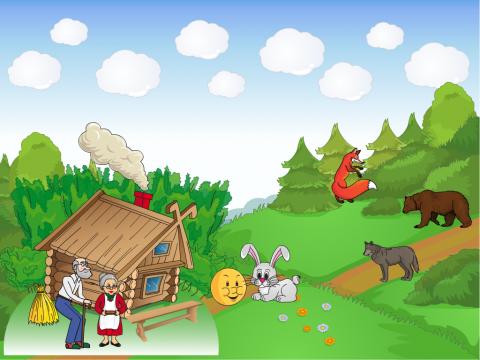 «По страницам русских народных сказок. Колобок», бесплатное пособие для составления рассказа