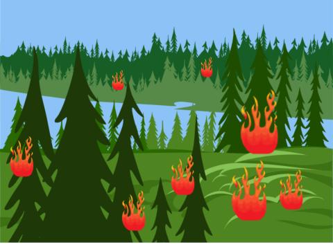 «Пожар в лесу», бесплатное пособие для автоматизации звуков
