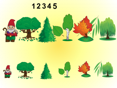 «Помоги гномам назвать деревья», бесплатное пособие для лексических тем