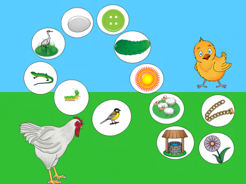 """«""""Помоги цыплёнку встретиться с мамой-курицей"""" », бесплатное пособие для автоматизации звуков"""