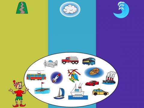 «Поможем Буратино расставить транспорт», бесплатное пособие для лексических тем